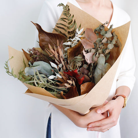WithEveryBloom dried foliage bouquet