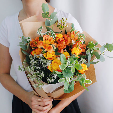Tangerine Dreams Graduation Bouquet