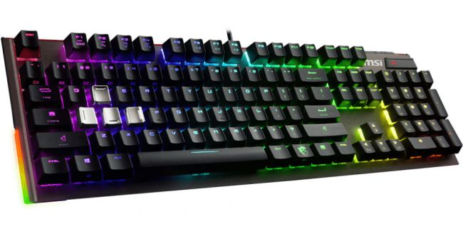 MSI launches a pair of RGB mechanical keyboards with extra keycaps