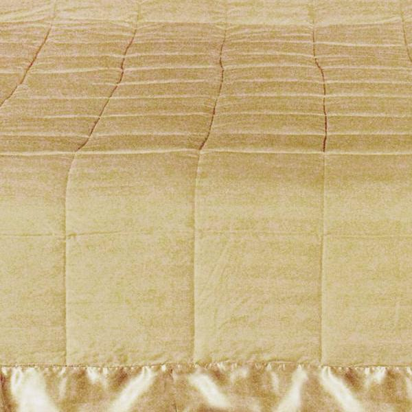 WINTER OVERFILLED SATIN FLANGED DOBBY STRIPED COMFORTER