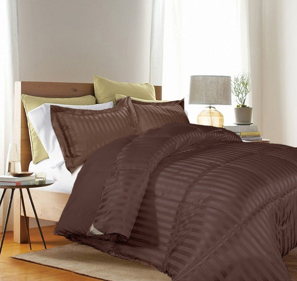 SATIN FLANGED DOBBY STRIPED COMFORTER