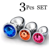 3pcs/Set Stainless Steel Metal Anal Plug