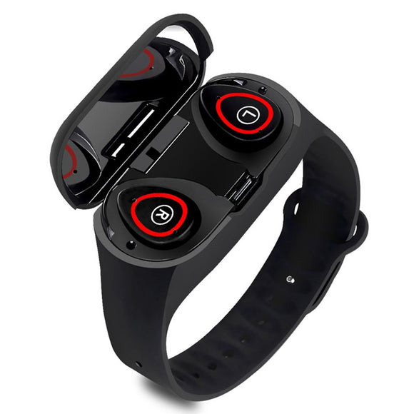 M1Pro TWS Bluetooth Smart Bracelet With Earphone