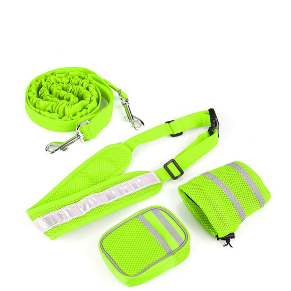 Hands-Free Dog Running Leash With Receiving Bag