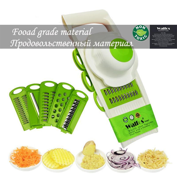 Mandoline Vegetables Cutter Peeler Tools with 5 Blade - Everything all I want