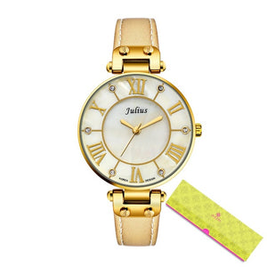 Ultra Thin Gold Plated Women Watch - Everything all I want