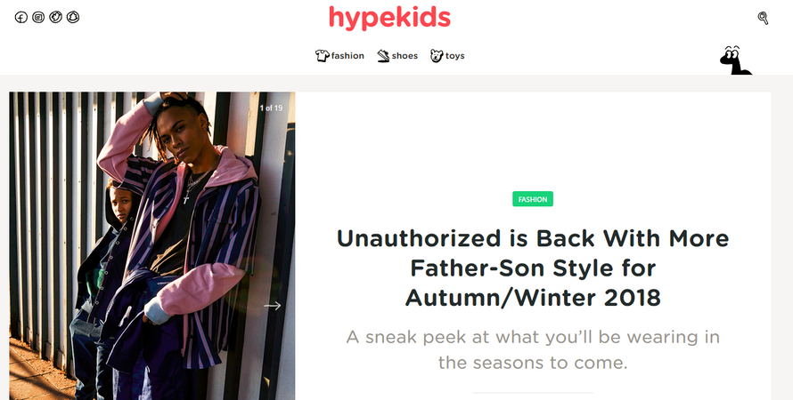 Hypekids: Unauthorized is Back With More Father-Son Style for Autumn/Winter 2018