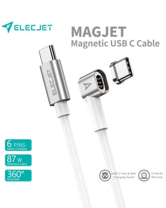 ELECJET | MagJet: Magnetic USB C to USB C Charging Cable