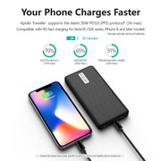 Apollo Traveller Luxury Set : Power Bank + 60W Charger + International Plugs