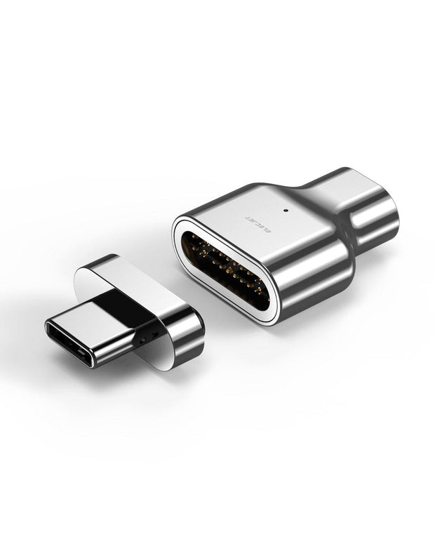 MagThunder X: Magnetic Thunderbolt 3 adapter, 24 Pins Design Compatible with MacBook Pro/Air and any USB C Laptops
