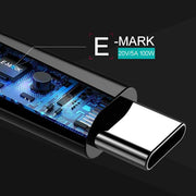 3.3ft E-Mark 5A USB-C to USB-C Cable - ELECJET