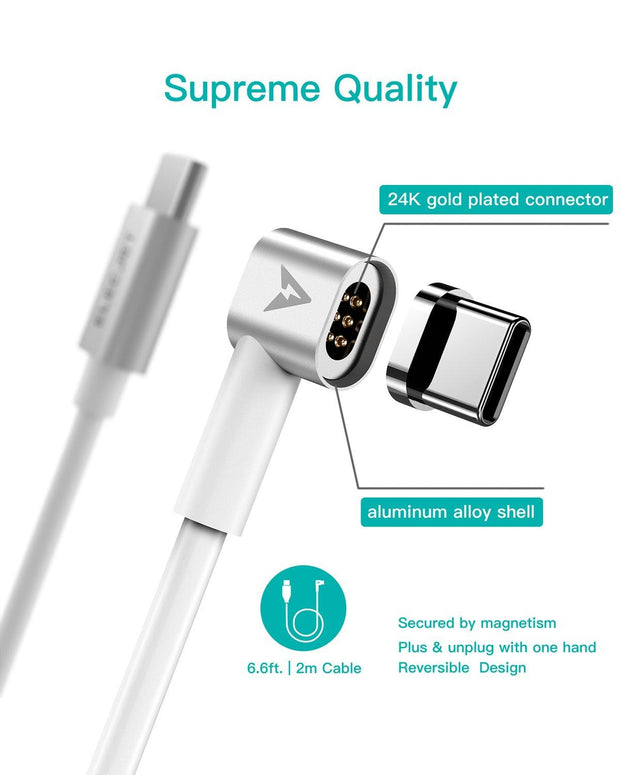 MagJet M6: Magnetic USB C to USB C Charging Cable - ELECJET