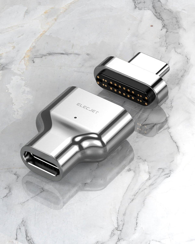 MagThunder X: Magnetic Thunderbolt 3 adapter, 24 Pins Design Compatible with MacBook Pro/Air and any USB C Laptops - ELECJET