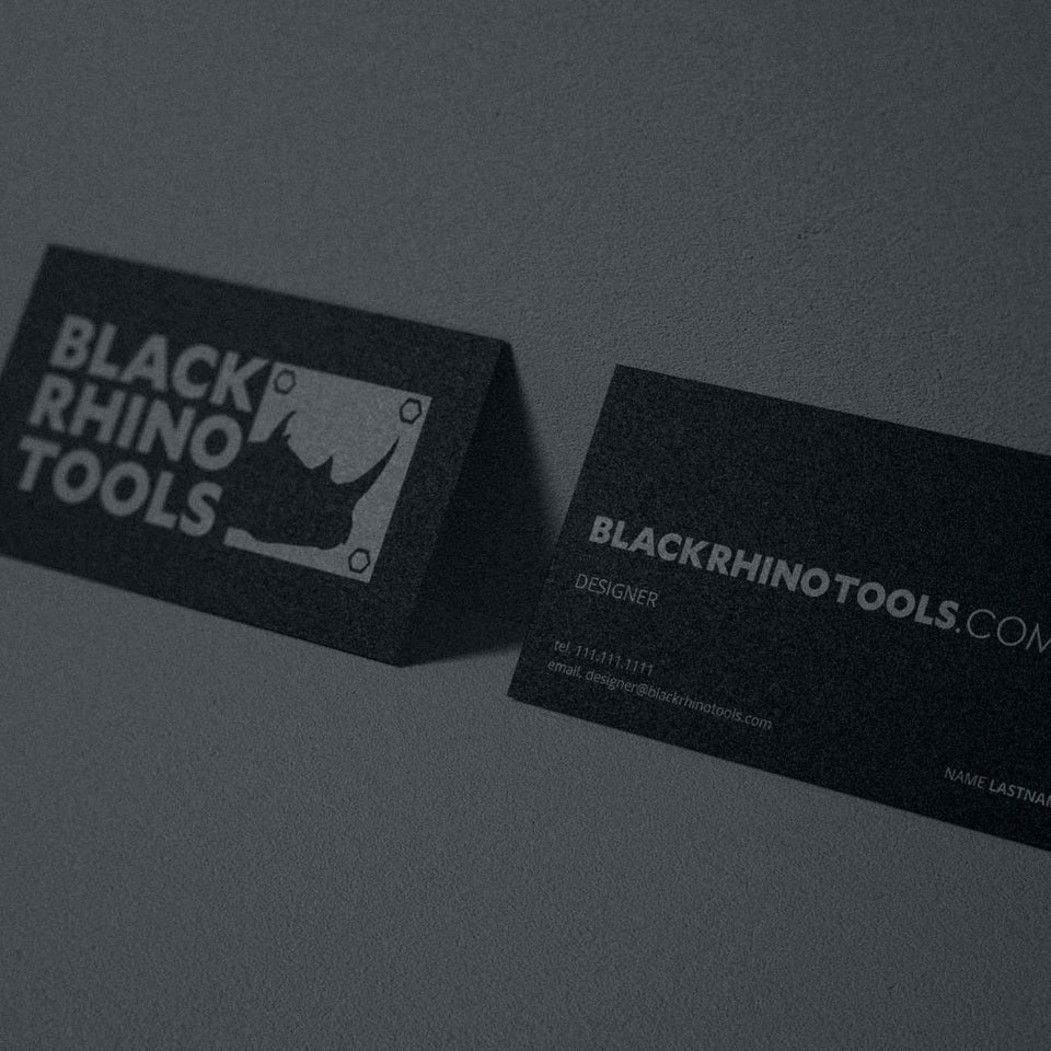 Black Rhino Business Card Concept