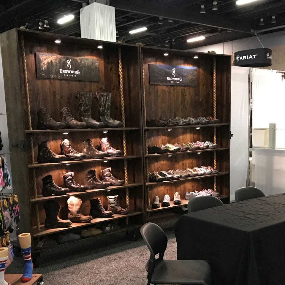 Browning Footwear Tradeshow Booth