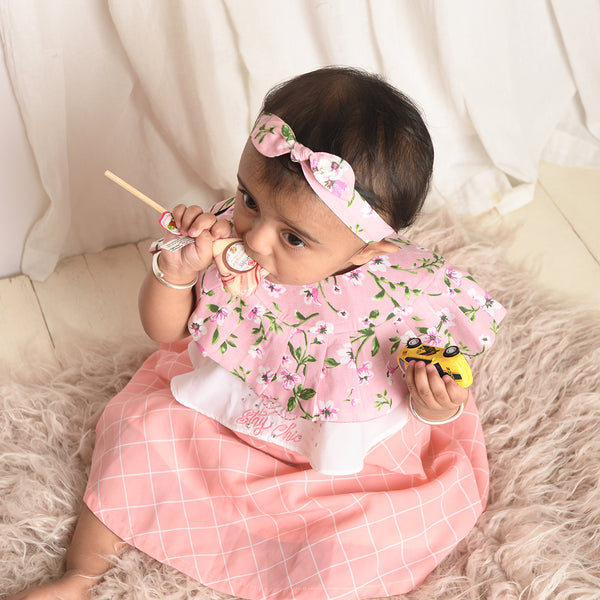 Better Than Ice Cream - Frill Bib + Bow Set