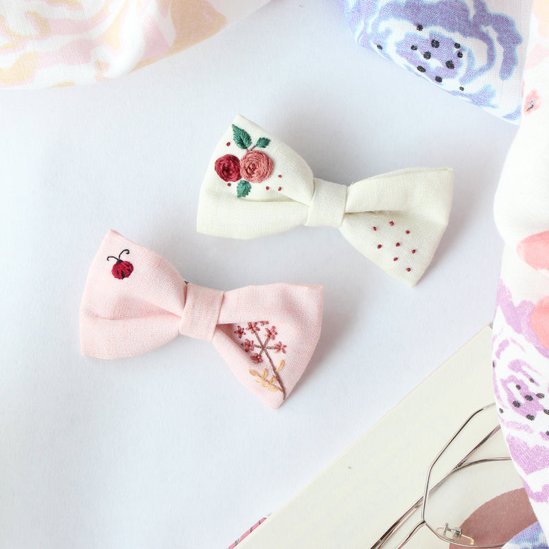 Little Love Bug - Set Of 2 Embroidered Clips