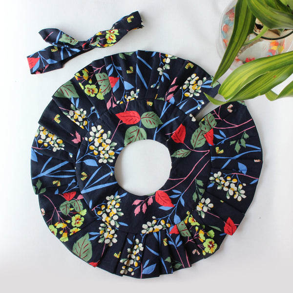 Good Things Take Time - Frill Bib + Bow Headband