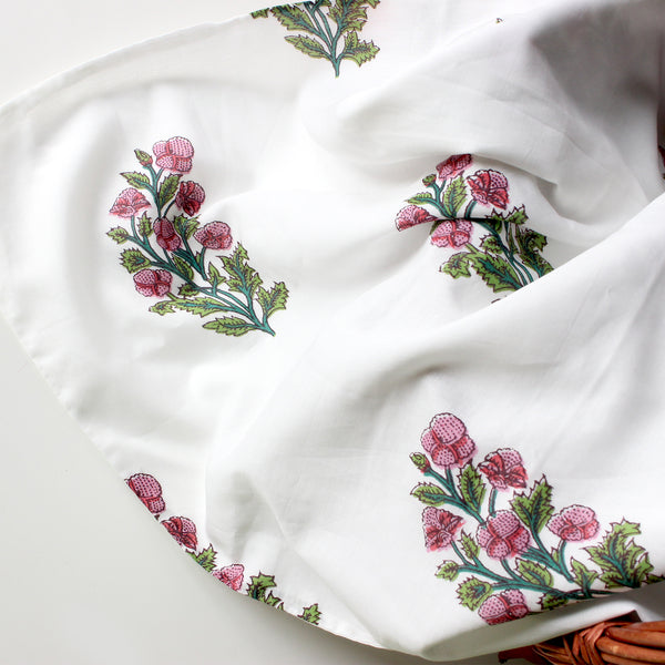 Over The Orchids - Swaddle + Bow Set