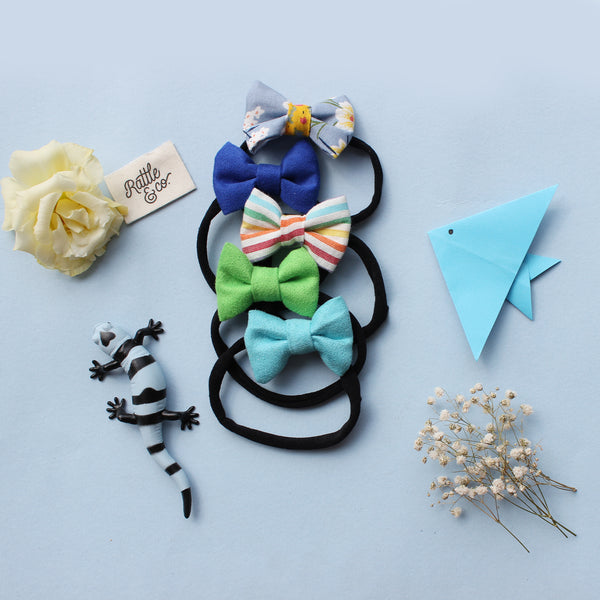 Skies Of Blue - Set of 5 bows