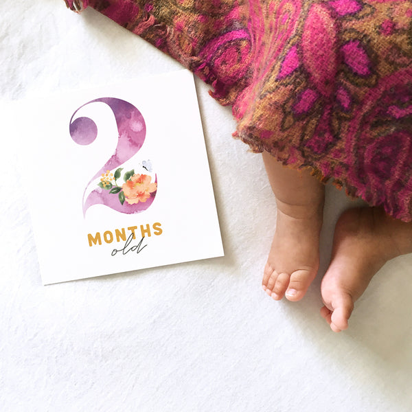 Baby Milestone Cards - Rattle x VS Calligraphy