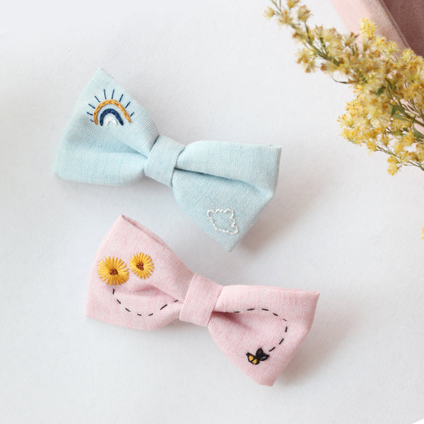 Honey, Bee Yourself - Set Of 2 Embroidered Clips