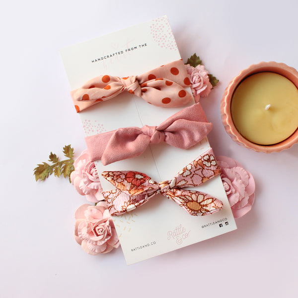 retro baby headband set by rattle and co
