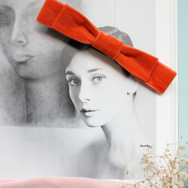 Falling For Fall Velvet Bow Baby Headband