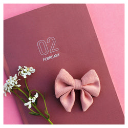Powder Pink Blush Bow