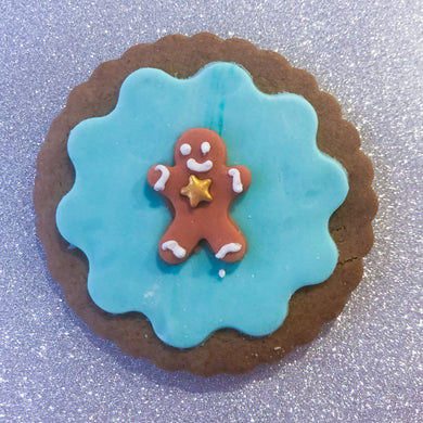 Gingerbread man cookie - Pink & Blue