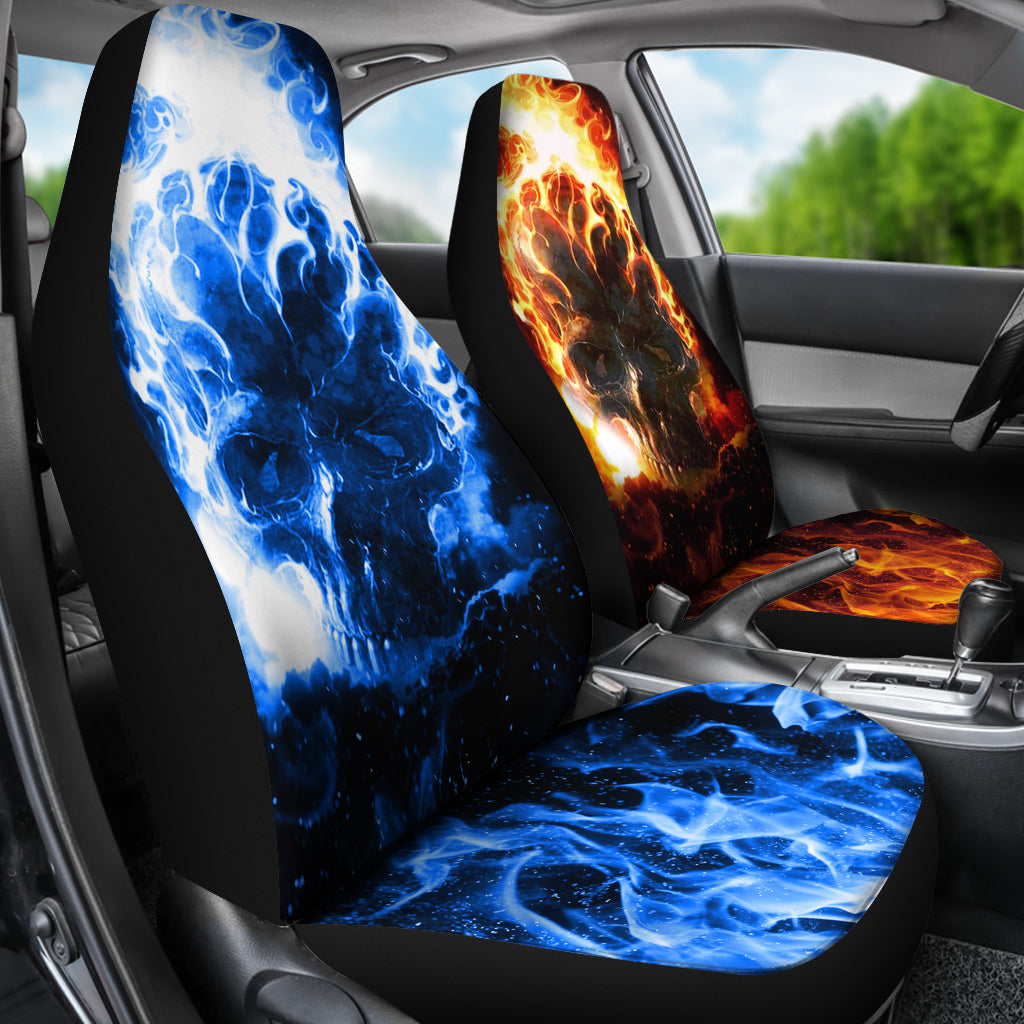 Flaming Skull - Car Seat Covers - (Set of 2) – The Trendify Store