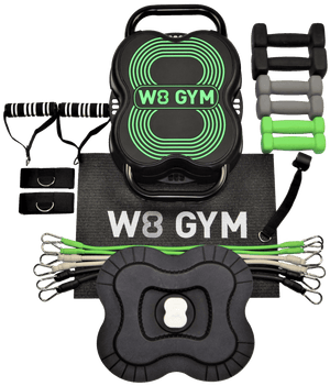 Green W8 GYM contents. Great bodyboss alternative