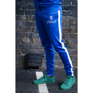 Electric Blue Tracksuit Bottoms - The Wolfe London