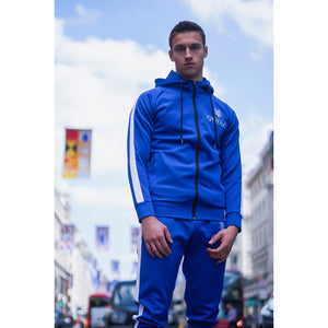 Electric Blue Tracksuit Top - The Wolfe London