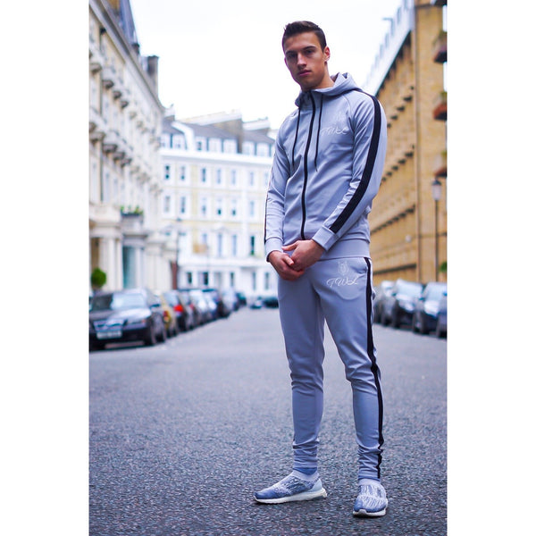 Gun Metal Grey Tracksuit Bottoms - The Wolfe London