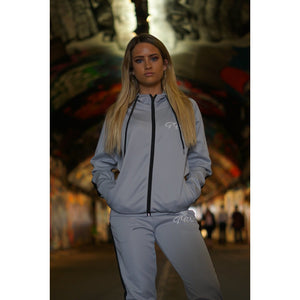Gun Metal Grey Tracksuit Top - The Wolfe London