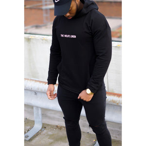 Knight Black Oversized Hoodie - The Wolfe London