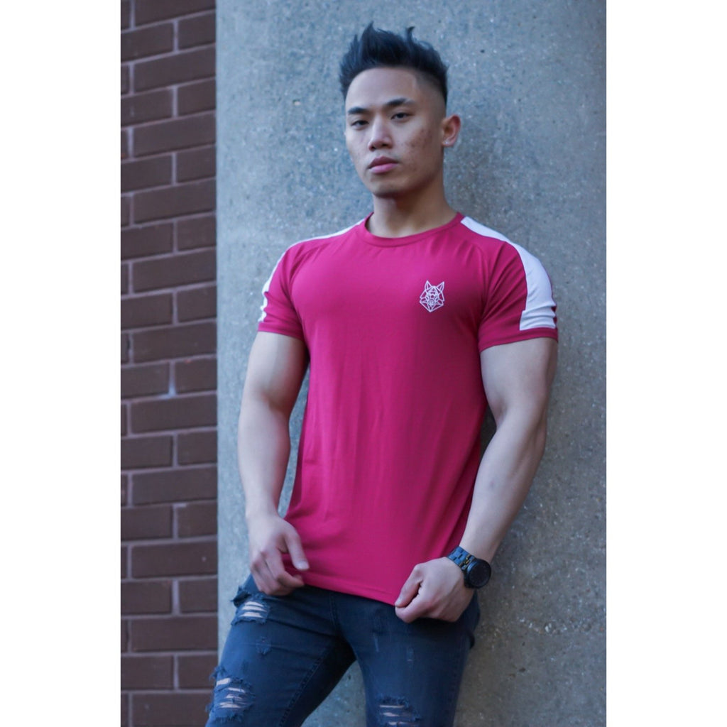 Lava Red Jersey T-shirt - The Wolfe London