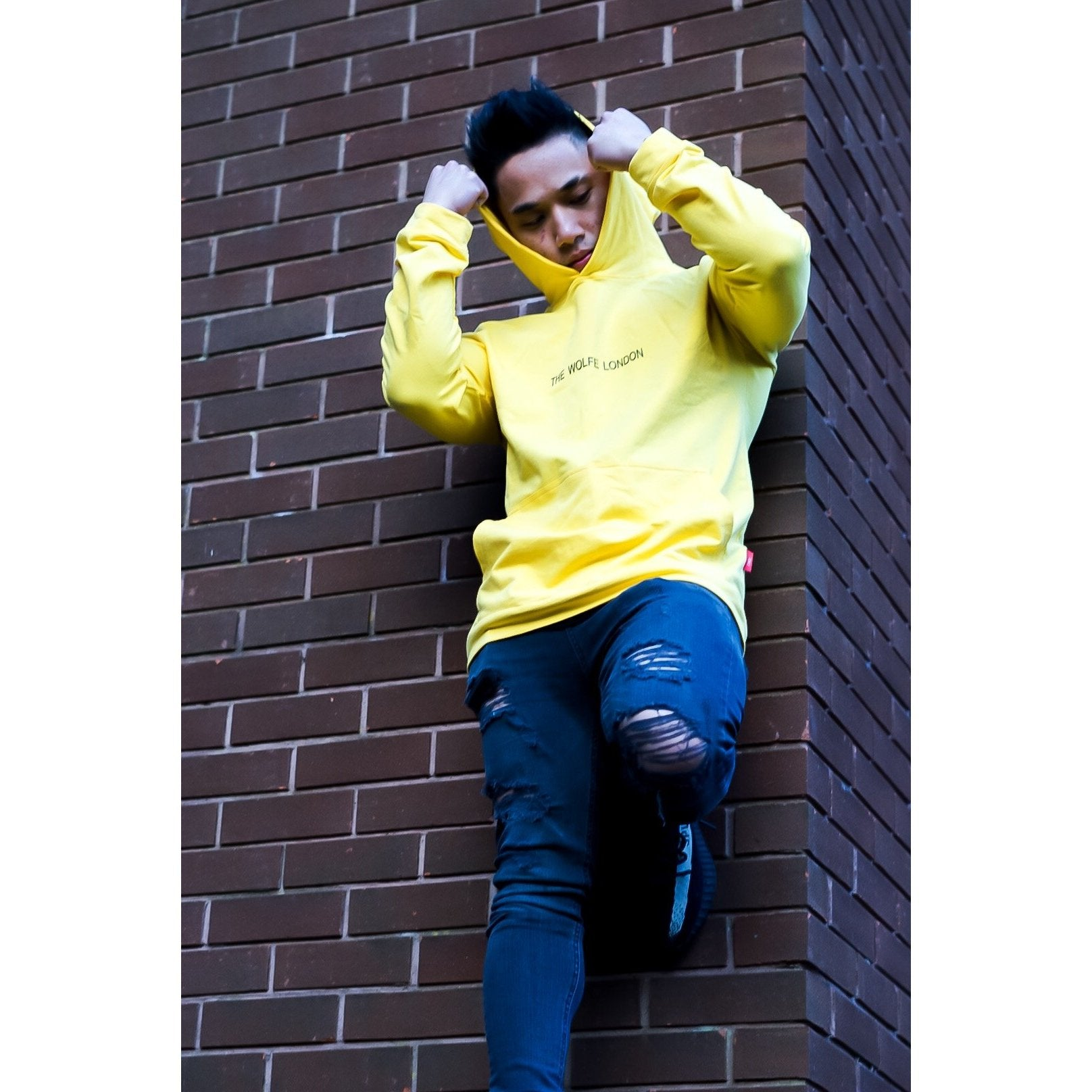 Ray Yellow Oversized Hoodie - The Wolfe London