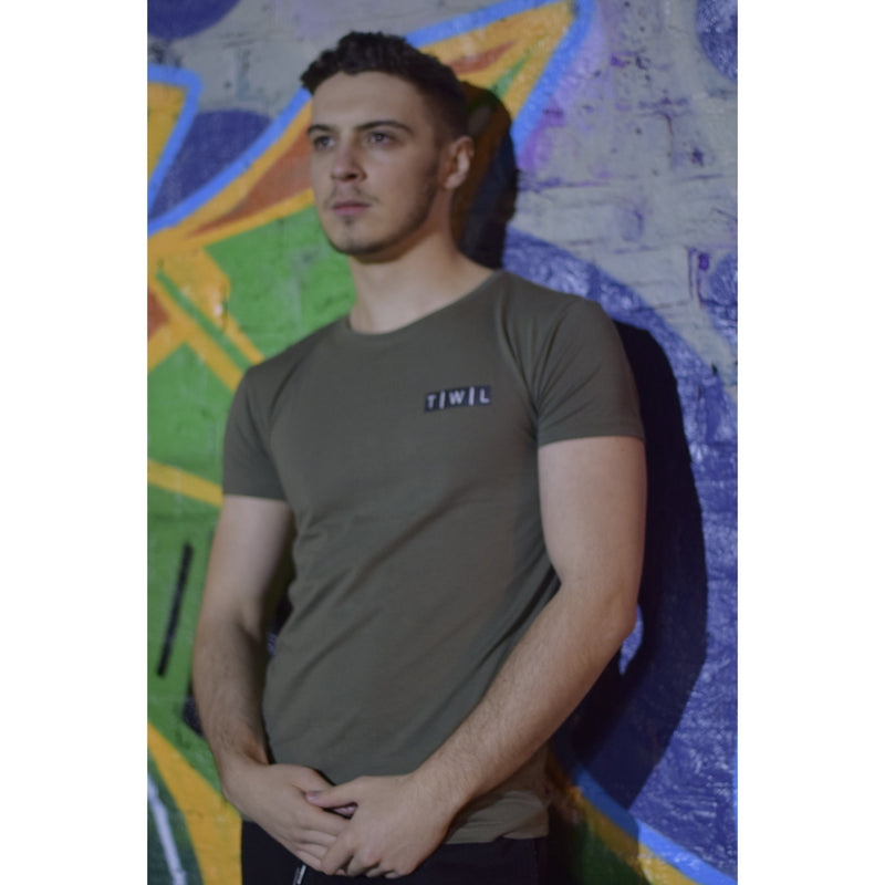 Signature Khaki Longline T-shirt - The Wolfe London