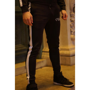Super Nova Black Tracksuit Bottoms - The Wolfe London
