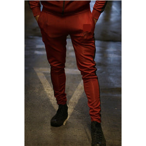 Super Nova Burgundy Tracksuit Bottoms - The Wolfe London