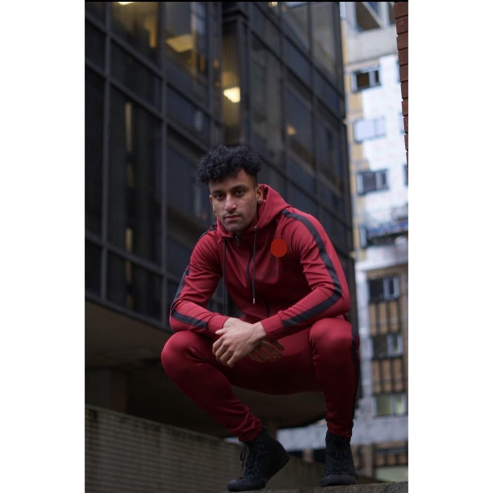 Super Nova Burgundy Tracksuit Top
