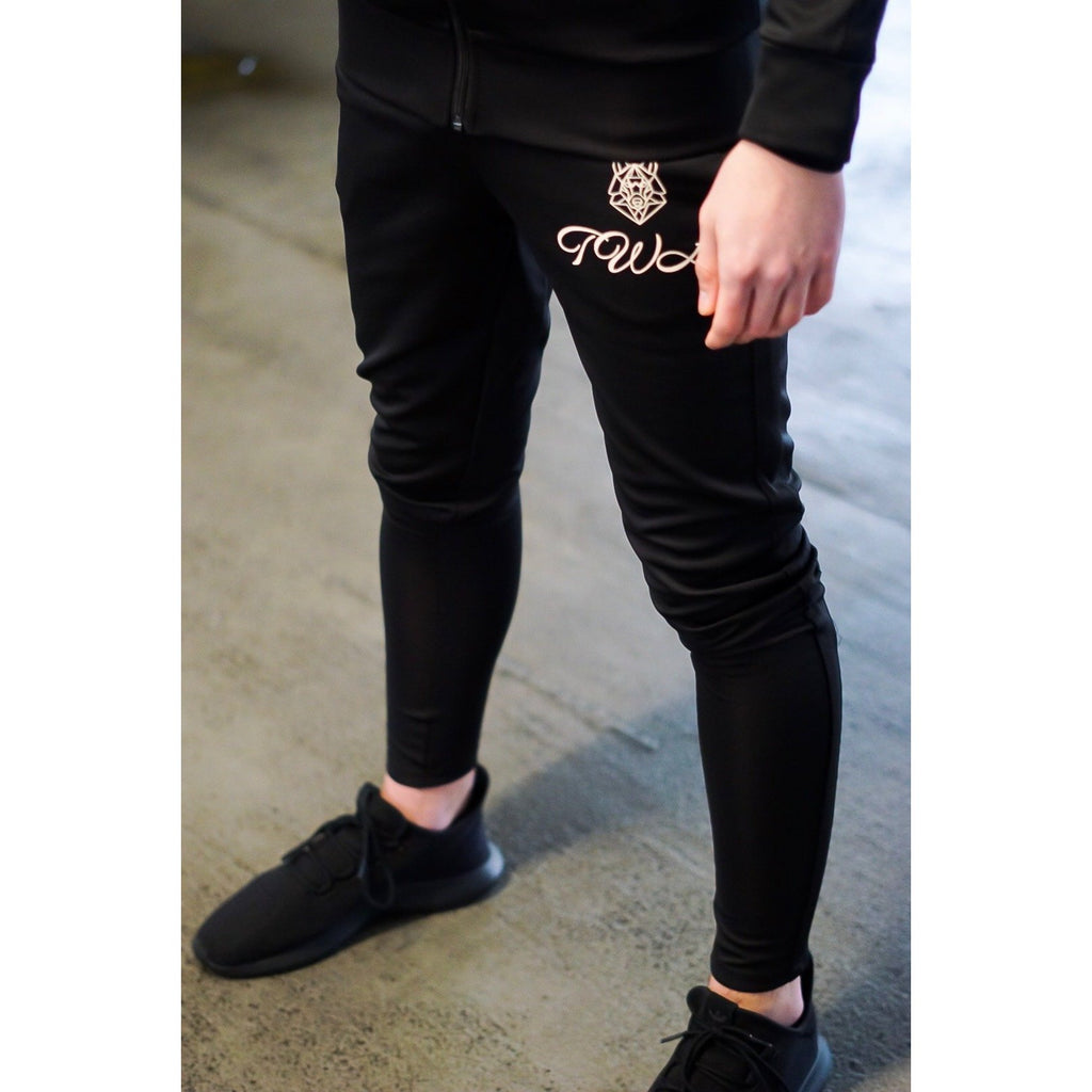 Triple Black Knight Tracksuit Bottoms - The Wolfe London