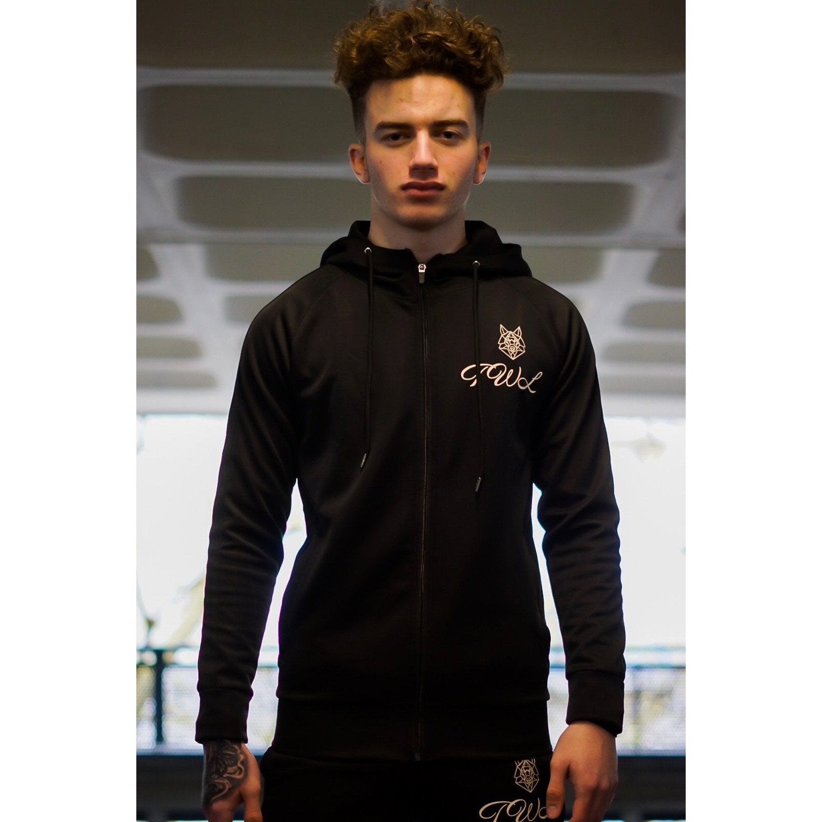 Triple Black Knight Tracksuit Top - The Wolfe London
