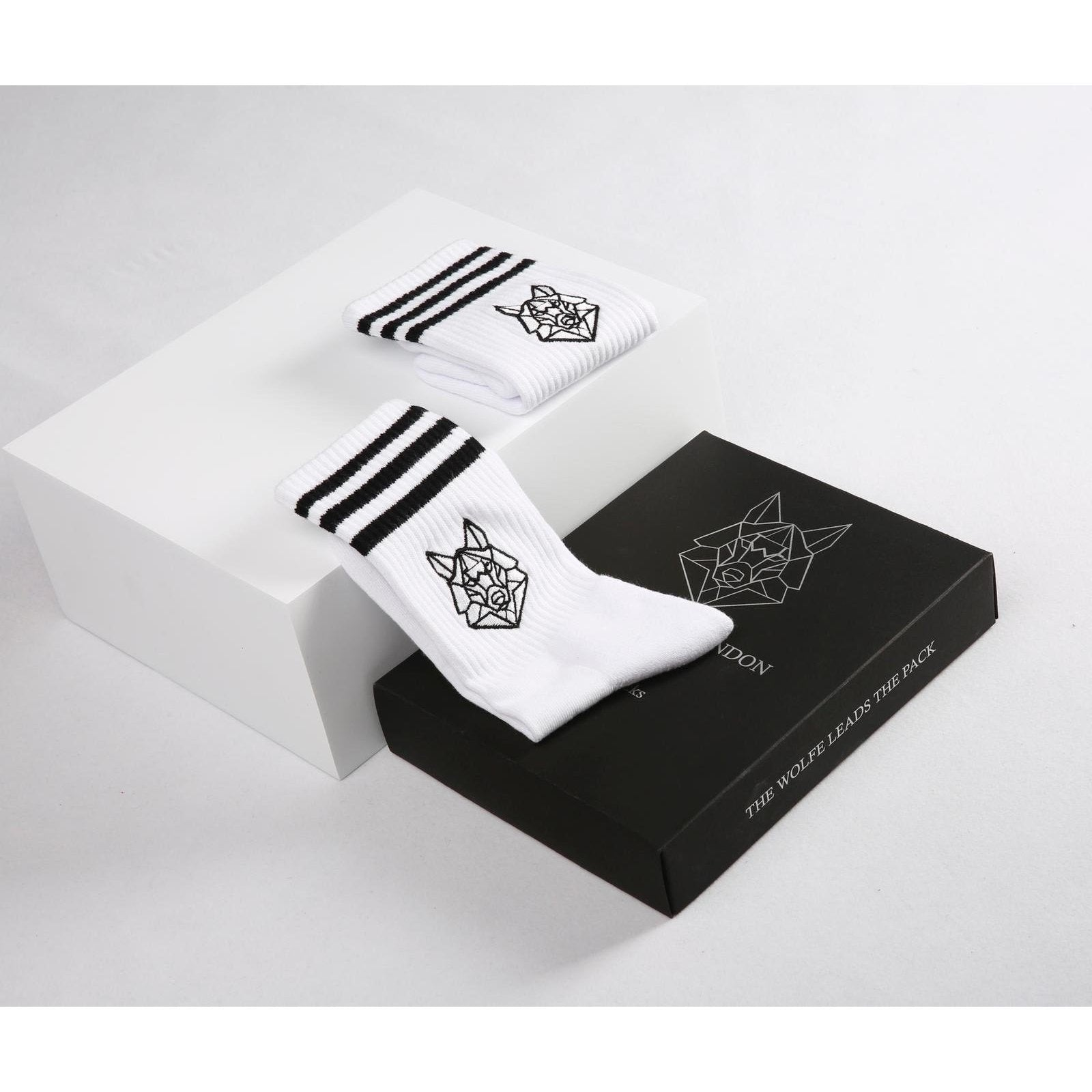 Omega White Crew Socks