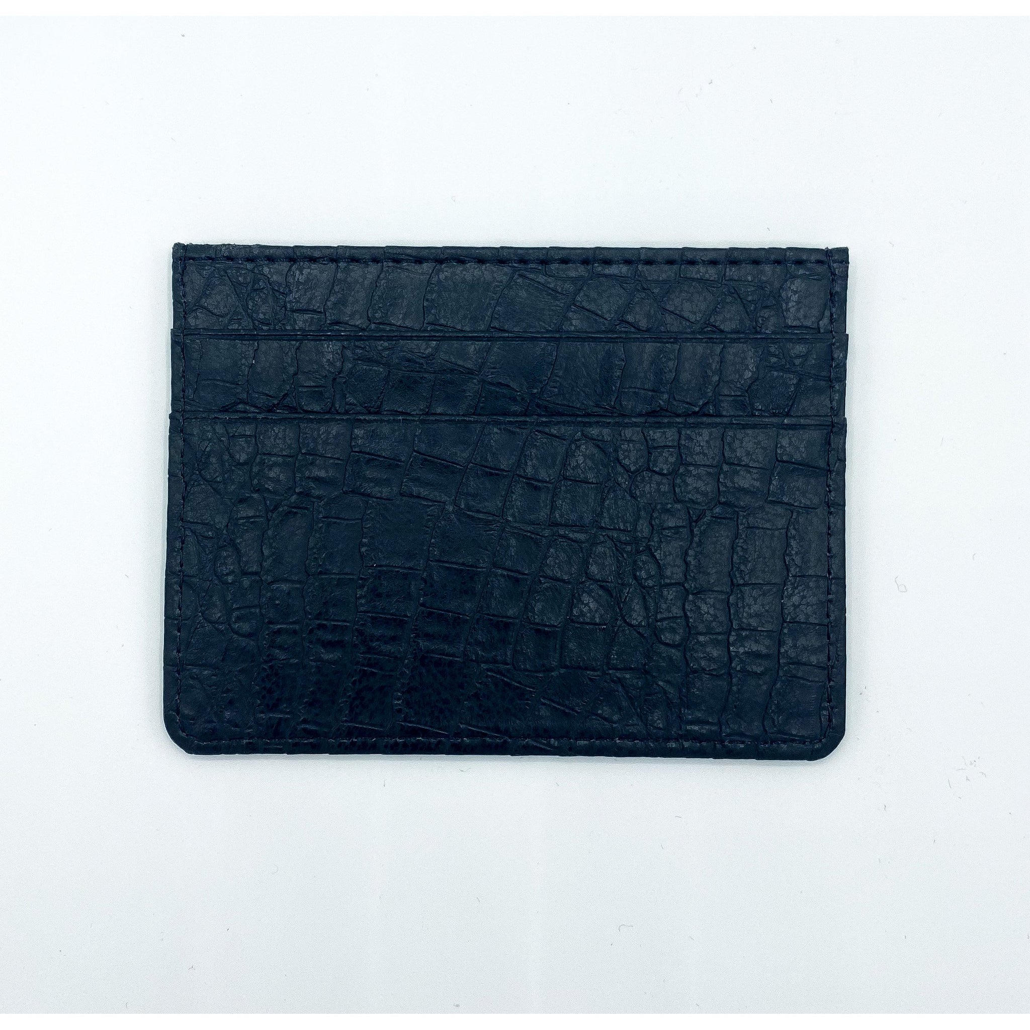Crocodile Black Card Case