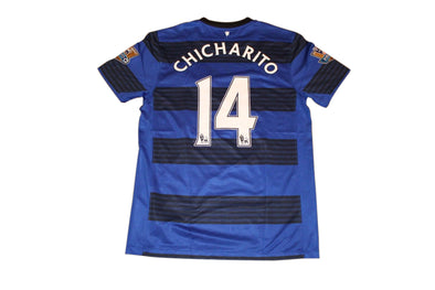 CHICHARITO #14 MANCHESTER UNITED 2011/2013 AWAY AUTHENTIC FOOTBALL JERSEY. M