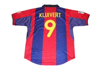 KLUIVERT #9 BARCELONA 1999/2000 HOME AUTHENTIC VINTAGE SOCCER JERSEY. XL