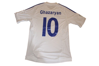 MATCH WORN GHAZARYAN #10 ARMENIA AWAY OFFICIAL 2014 WORLD CUP SOCCER JERSEY. M